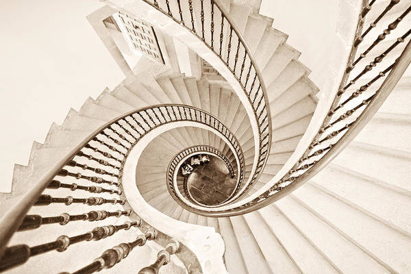 Staircases Photograph - Helix Vertigo by Ines Montenegro