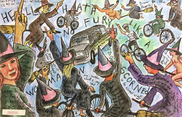 Anti Wall Art - Drawing - Hell Hath No Fury by Susan  Shie