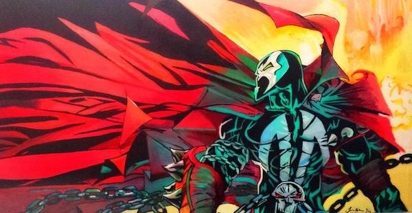 Spawn Painting - Hell Of A Day by Jason Majiq Holmes