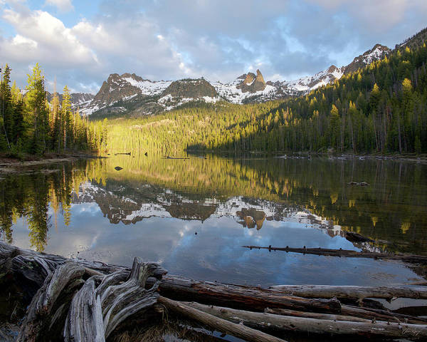 Photograph - Hell Roaring Lake Reflection by Aaron Spong