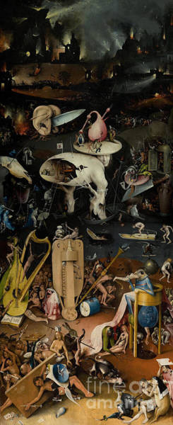 Surrealist Painting - Hell    The Garden Of Earthly Delights by Hieronymus Bosch