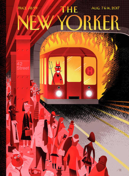 Urban Drawing - Hell Train by Bob Staake