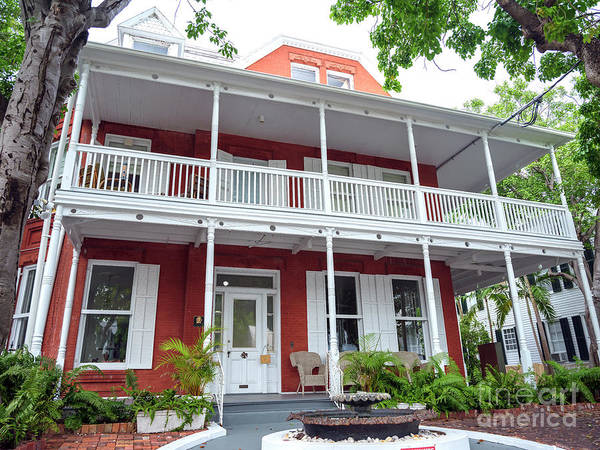 Photograph - Hellings House Museum Key West by John Rizzuto