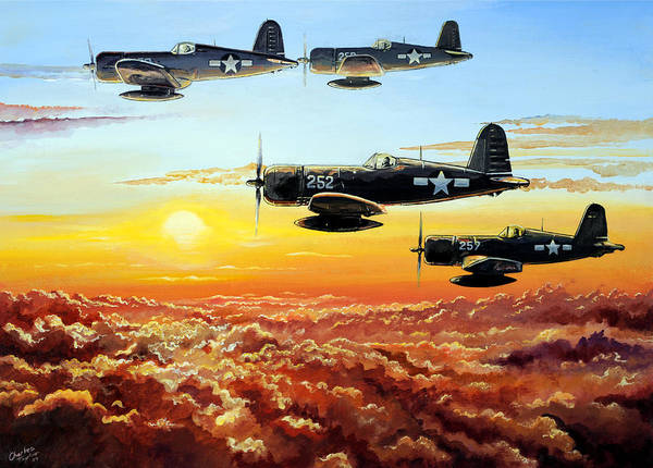 Air War Painting - Hellions by Charles Taylor