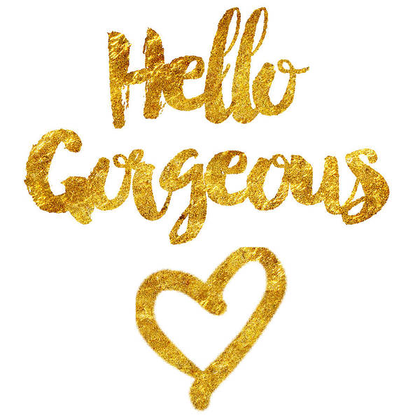 Birthday Cards Wall Art - Digital Art - Hello Gorgeous by Sabine Jacobs