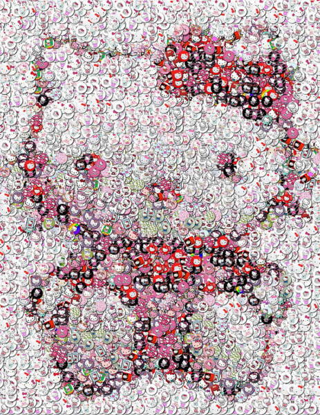 Hello Kitty Wall Art - Photograph - Hello Kitty Button Mosaic by Paul Van Scott