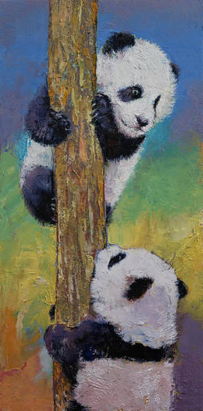 Happy Little Trees Painting - Hello by Michael Creese
