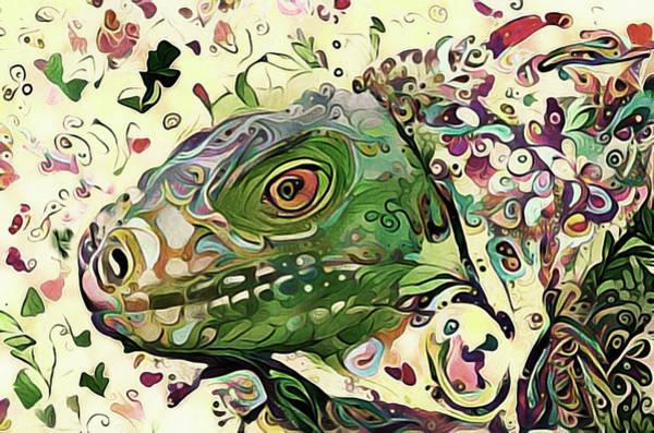 Mixed Media - Hello Mr. Lizard by Susan Maxwell Schmidt