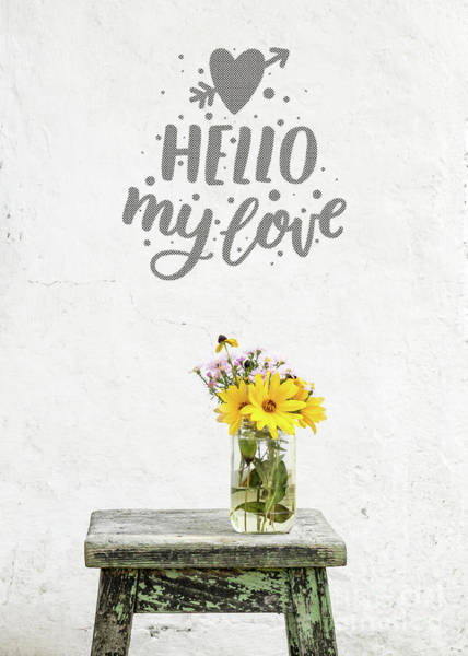 Love Notes Wall Art - Photograph - Hello My Love Card by Edward Fielding