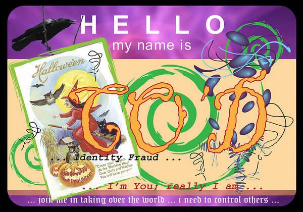 Wall Art - Digital Art - Hello My Name Is Co'd by Donna Zoll