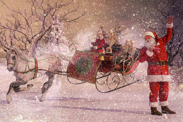 Wall Art - Digital Art - Hello Santa by Betsy Knapp