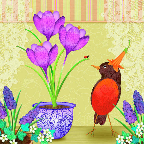 Digital Art - Hello Spring by Valerie Drake Lesiak