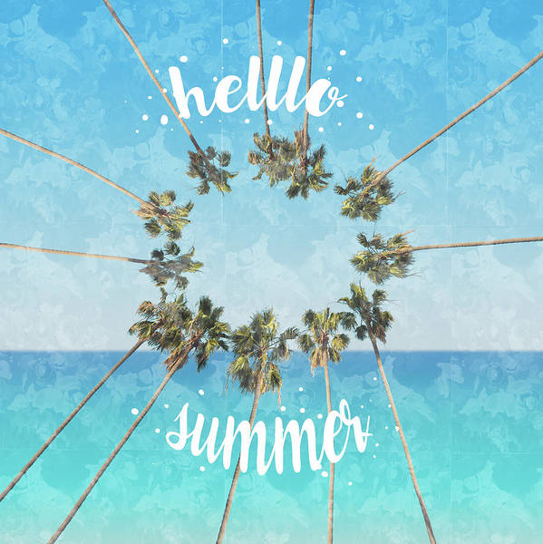 California Coast Digital Art - Hello Summer 2 by Bekim M