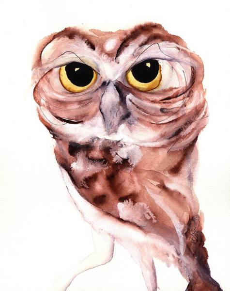Burrowing Owl Painting - Hello There by Dawn Derman