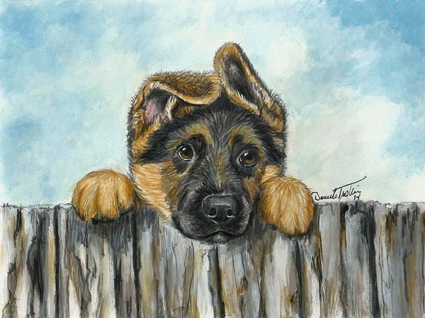 Dog Mixed Media - Hello You  by Daniele Trottier