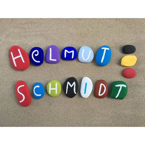 Politicians Wall Art - Photograph - Helmut Schmidt, The West German by Adriano La Naia