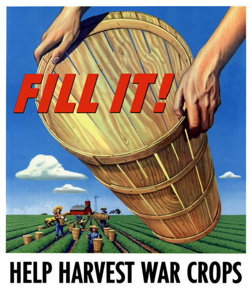 Political Propaganda Painting - Help Harvest War Crops - Fill It by War Is Hell Store