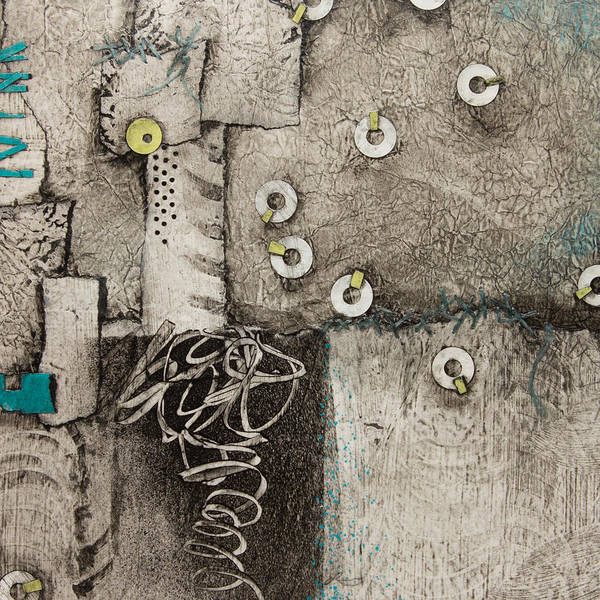 Thread Mixed Media - Help Is On Its Way by Laura Lein-Svencner