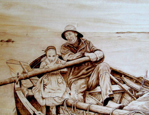 Pyrography Wall Art - Pyrography - Helping Hands by Jo Schwartz