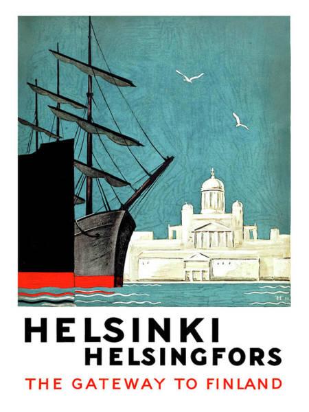 Gateway Painting - Helsinki, Helsingfors, Gateway To Finland by Long Shot