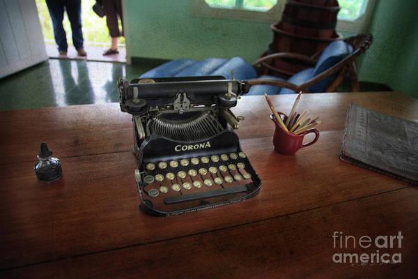 Photograph - Hemingways' Cuba Typewriter No. 6 by Craig J Satterlee