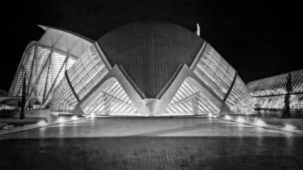 Photograph - Architecture Valencia Spain Bw by Joan Carroll