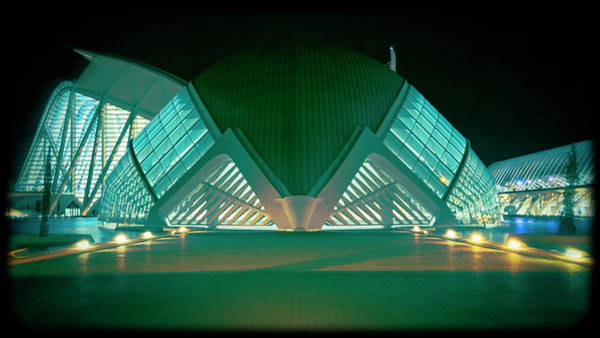 Photograph - Architecture Valencia Spain Night IIi by Joan Carroll