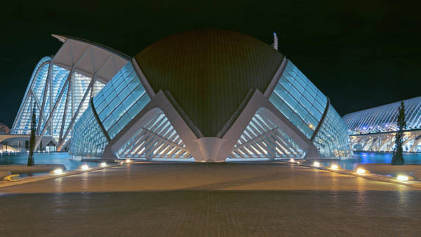 Photograph - Architecture Valencia Spain Night by Joan Carroll