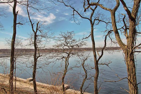 Photograph - Hempstead Harbor Through The Trees by Bob Slitzan