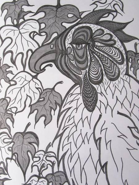 Drawing - Hen by Rosita Larsson