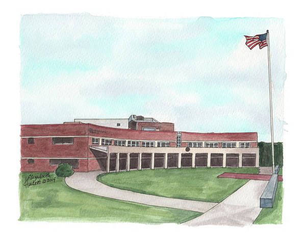 Painting - Henderson Hall, Marine Corps Headquarters by Betsy Hackett