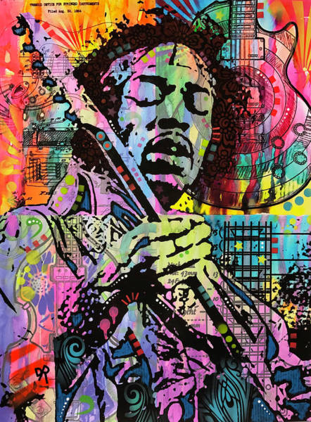 Wall Art - Painting - Hendrix History Of Rock by Dean Russo Art