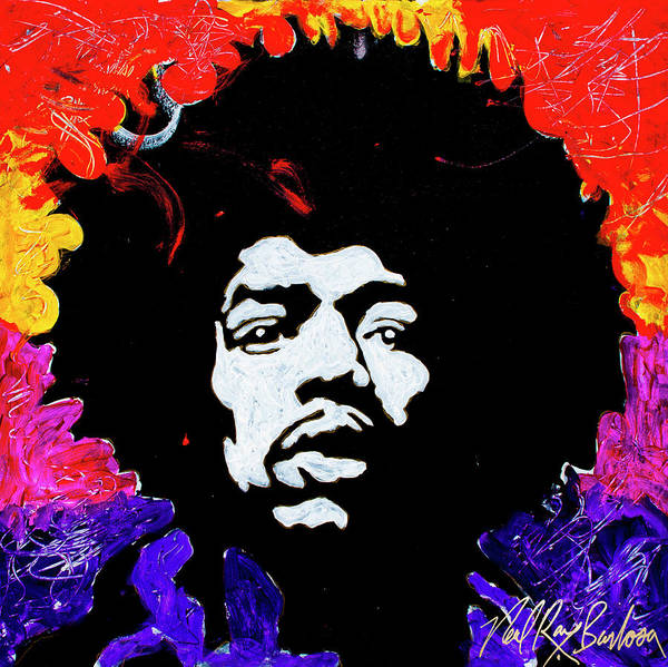 Painting -  Hendrix Mania by Neal Barbosa