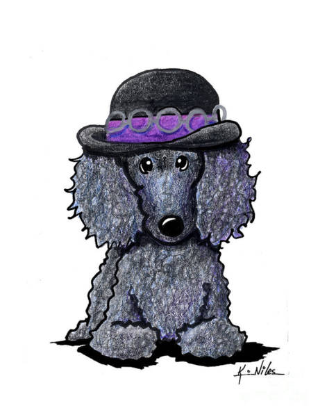 Wall Art - Drawing - Hendrix Poodle by Kim Niles