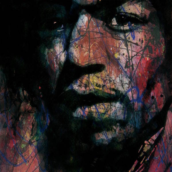 Wall Art - Painting - Hendrix Purple Haze  by Paul Lovering