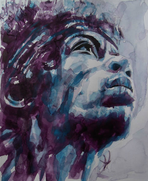 Wall Art - Painting - Hendrix Woodstock  by Paul Lovering