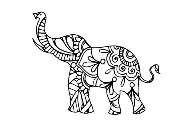 India Ink Wall Art - Digital Art - Henna Elephant 2 by Ricky Barnard