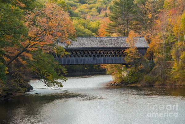 Henniker Photograph - Henniker Covered Bridge by Bob Phillips