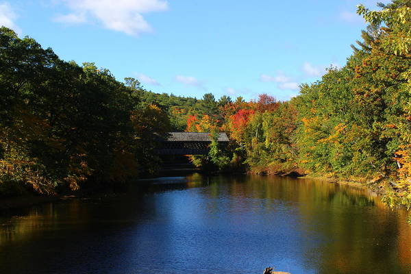 Wall Art - Photograph - Henniker Covered Bridge by Dominic Labbe