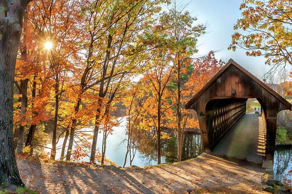 Henniker Photograph - Henniker Covered Bridge by Larry Richardson