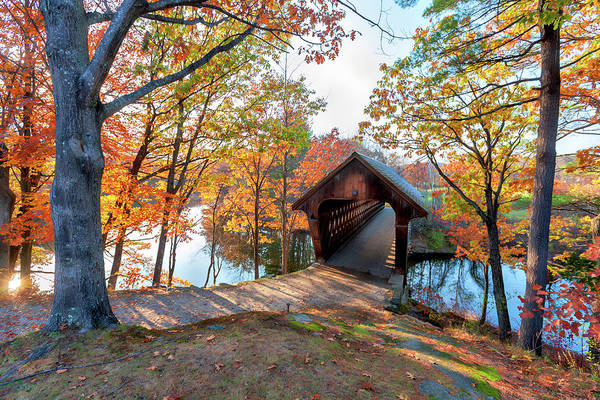 Henniker Photograph - Henniker Nh Covered Bridge by Larry Richardson