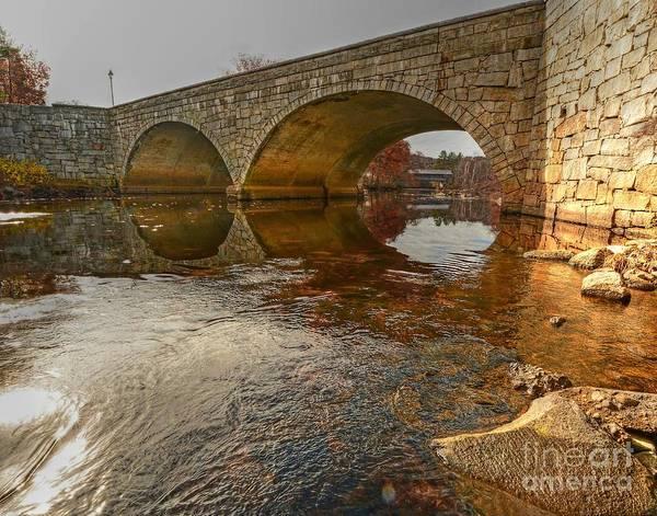 Henniker Photograph - Henniker Village Bridge by Steve Brown