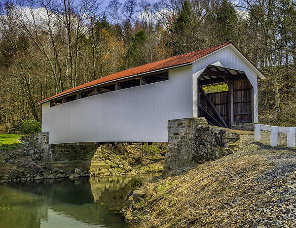 Photograph - Henninger Farm Covered Bridge by Nick Zelinsky