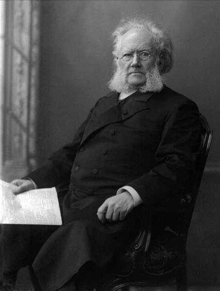 Doll House Photograph - Henrik Ibsen Portrait - Norwegian Playwright by War Is Hell Store