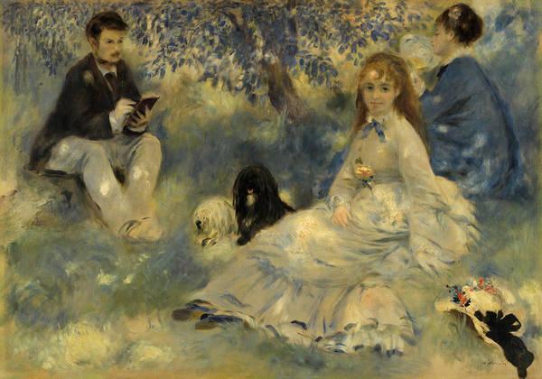 Elegant Dog Painting - Henriot Family by Pierre-Auguste Renoir