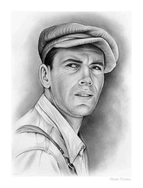 Fruit Drawing - Henry Fonda by Greg Joens