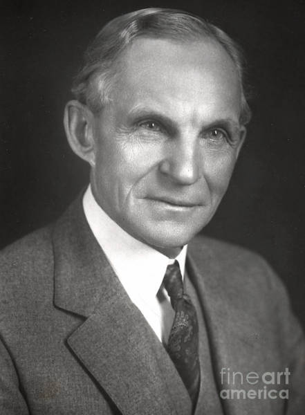 Manufacturers Photograph - Henry Ford by American School