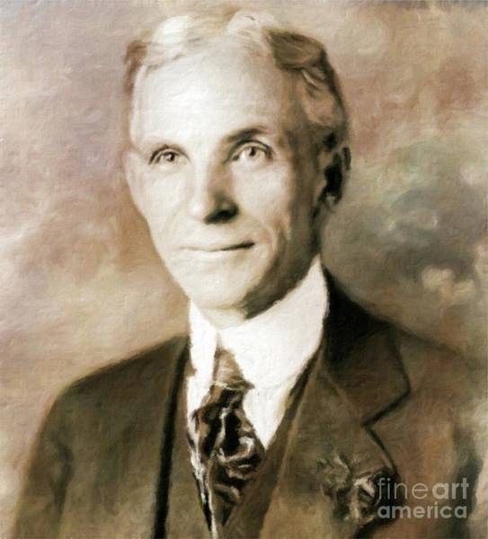 Poem Painting - Henry Ford By Mary Bassett by Mary Bassett