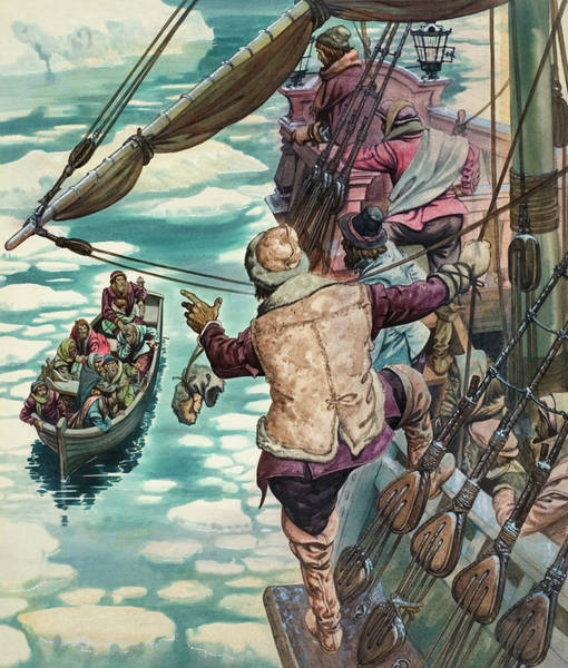 Floating Painting - Henry Hudson Being Set Adrift by Peter Jackson