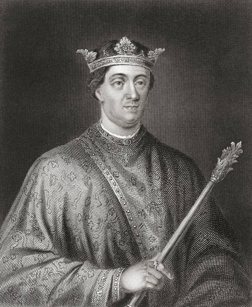 Wall Art - Drawing - Henry II, 1133 by Vintage Design Pics
